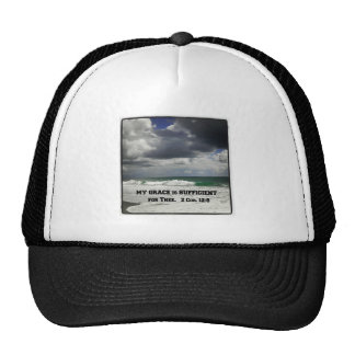 2 Cor. 12:9 My Grace is Sufficient for Thee. Trucker Hat
