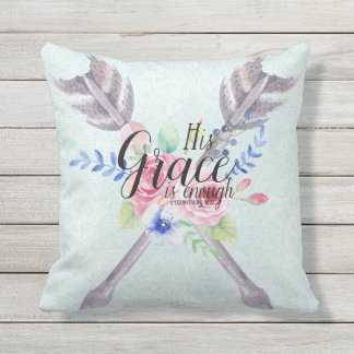 2 Corinthians 12:9 His Grace is Enough Throw Pillow