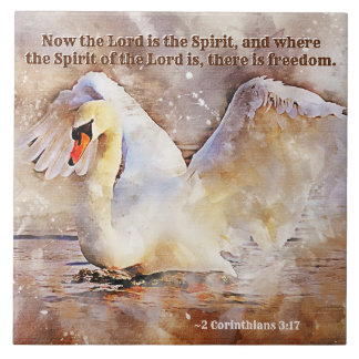 2 Corinthians 3:17 ...there is freedom Bible Verse Tile