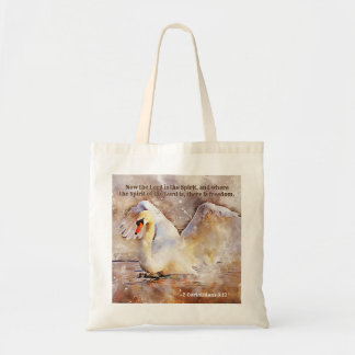 2 Corinthians 3:17 Where the spirit of the Lord is Tote Bag