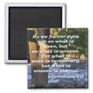 2 Corinthians 4:18 Magnet