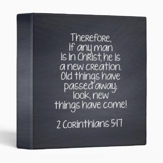 2 Corinthians 5:17 Bible Verse Binders