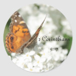 45   2 corinthians 5 17 butterfly lilac stickers