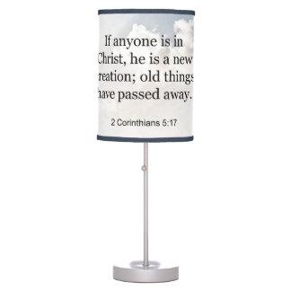 2 Corinthians 5:17 Christian Bible Scripture Table Lamp