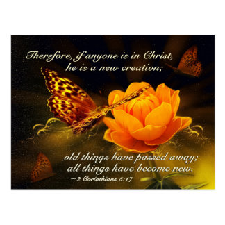2 Corinthians 5:17 If anyone is in Christ, Bible Postcard