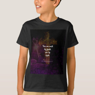 2 Corinthians 5:7 Bible Verse Inspirational Quote T-Shirt