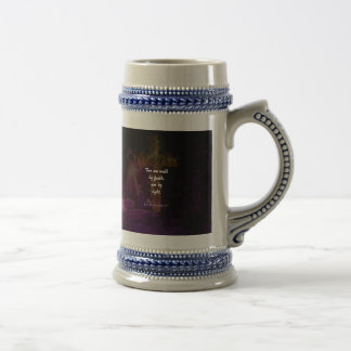 2 Corinthians 5:7 Bible Verse Quote About Faith Beer Stein