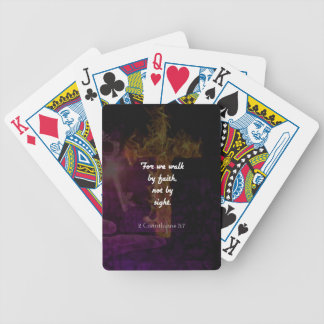 2 Corinthians 5:7 Bible Verse Quote About Faith Bicycle Playing Cards
