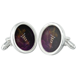 2 Corinthians 5:7 Bible Verse Quote About Faith Cufflinks
