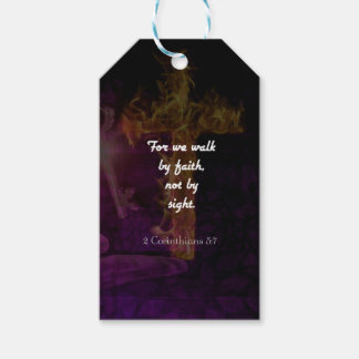 2 Corinthians 5:7 Bible Verse Quote About Faith Gift Tags