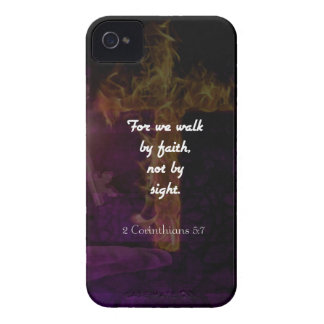 2 Corinthians 5:7 Bible Verse Quote About Faith iPhone 4 Cover