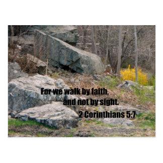 2 Corinthians 5:7 Postcard