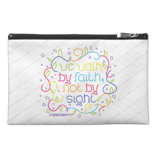 2 Corinthians 5:7 We walk by faith, not by sight. Travel Accessories Bag