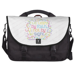 2 Corinthians 5:7 We walk by faith, not by sight. Bag For Laptop
