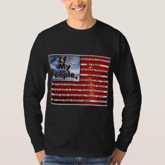 2 Corn 7:14 If my people American Flag T-Shirt