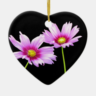 2 Cosmos Ceramic Heart Ornament