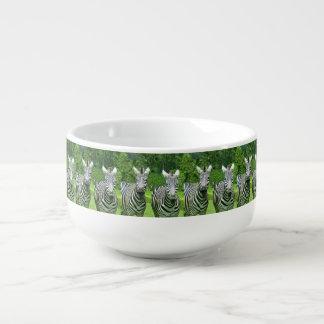 2 Cute Zebras Soup Mug