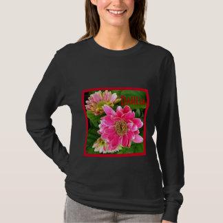 2 Deep Pink Dahlias T-Shirt