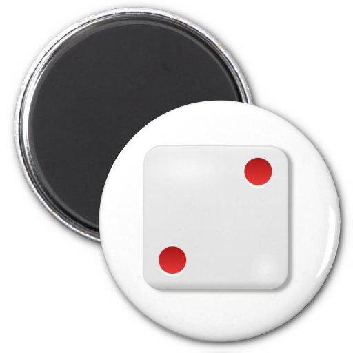 2 Dice Roll Refrigerator Magnet
