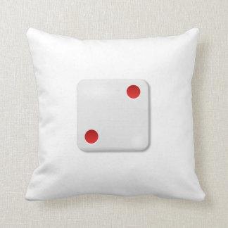2 Dice Roll Throw Pillows