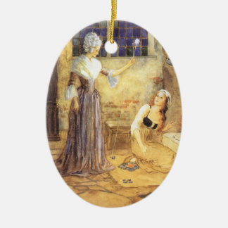 2 Different Vintage Fairy Tale Cinderella Designs Ceramic Ornament