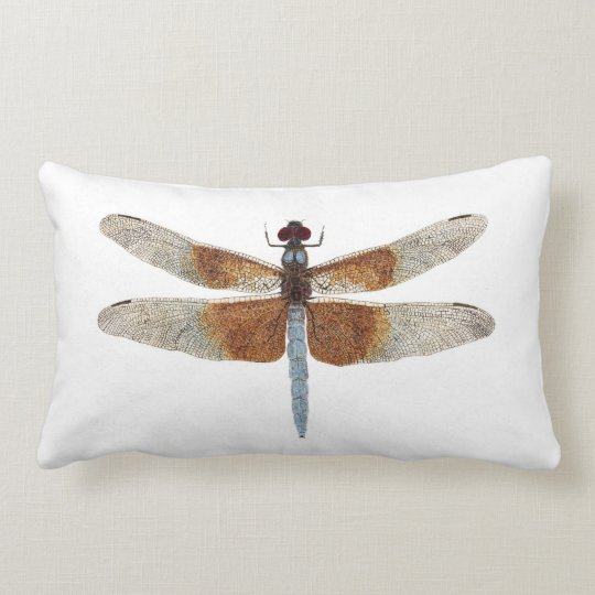 2 dragonflies 9! per side) lumbar pillow