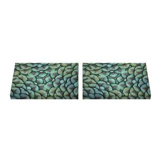 2 Elegant Peacock Feathers Kaleidoscope Canvas Canvas Prints