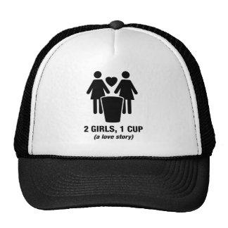 2 filles une tasse - 2girls1cup - pièce en t drôle casquettes
