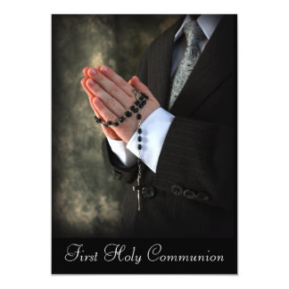 "2, First Holy Communion 5"" X 7"" Invitation Card"