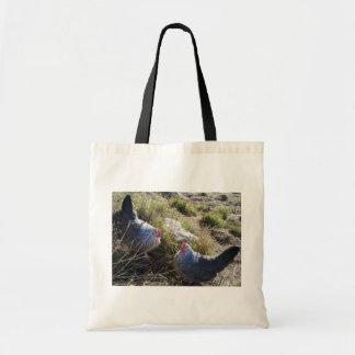 2 Free Range Silver Grey Dorking Hens Tote Bag