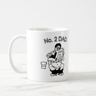 #2 Funny Dad (on pot) Coffee Mug