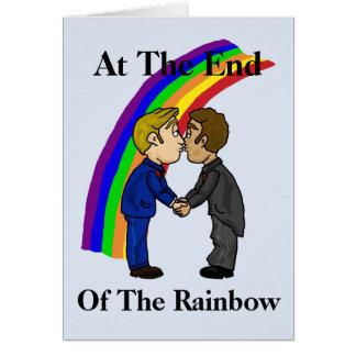 2 Gay Men Kissing Romantic Greeting Card