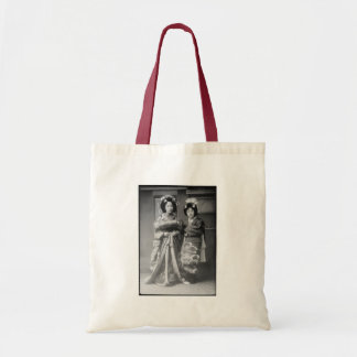 2 Geisha Girls Vintage Japanese Photo Budget Tote Bag