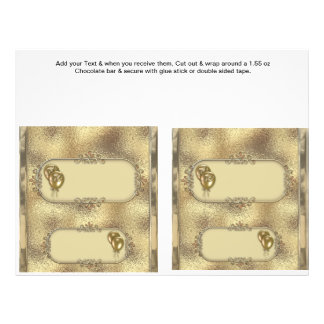 2 Golden Anniversary Custom Candy Bar Wrappers