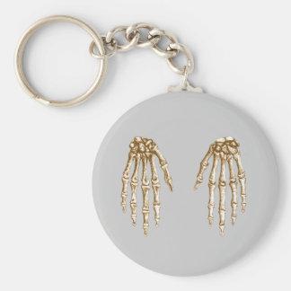 2 Hands Down Sepia Basic Round Button Keychain