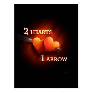 2 Hearts 1 Arrow - Postcard
