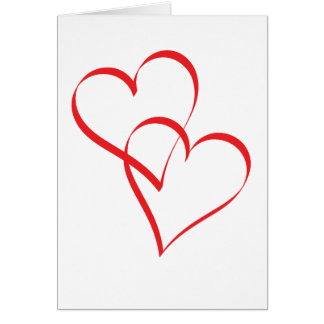 "2 Hearts Embracing Card Tall - ""One of the..."""