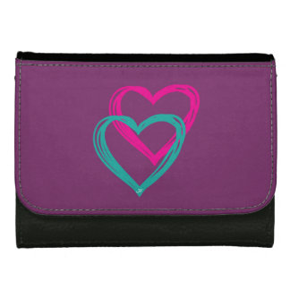 """""""2 hearts"""" leather wallets"""