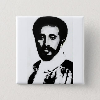 "2"" HIM Haile Selassie I Badge 2 Inch Square Button"