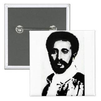 "2"" HIM Haile Selassie I Badge 2 Inch Square Button"