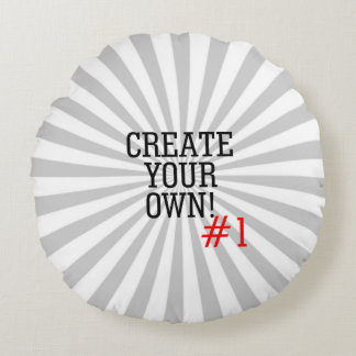 2 images Easily Create Your Own in two steps Round Pillow