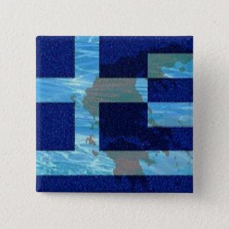 2 in. Square button/Greek flag 2 Inch Square Button