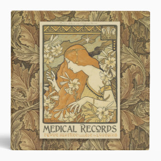 2 inch Art Nouveau Morris Design Medical Binder