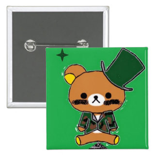 2-Inch Square Lieutenant-Bear Button