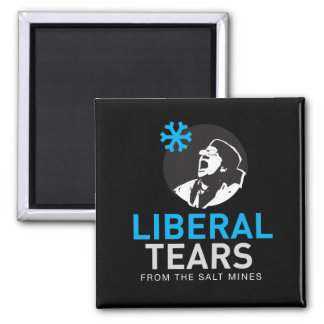 2 Inch Square Magnet Liberal Tears Black