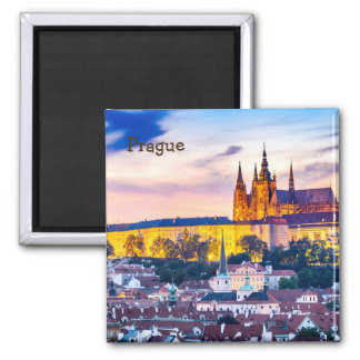 2 Inch Square Magnet Prague