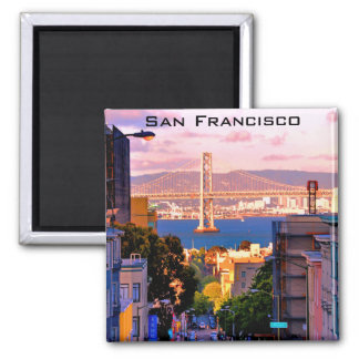 2 INCH SQUARE SAN FRANCISCO CITY VIEW MAGNET