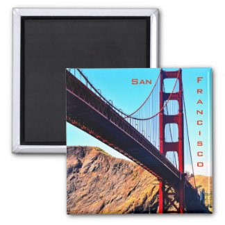 2 INCH SQUARE SAN FRANCISCO GOLDEN GATE MAGNET