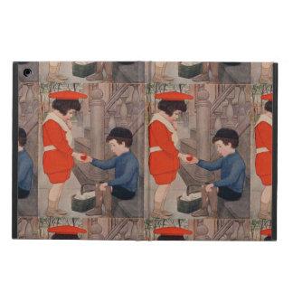 2 kids sharing an apple iPad air cover