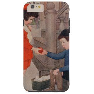 2 kids sharing an apple tough iPhone 6 plus case